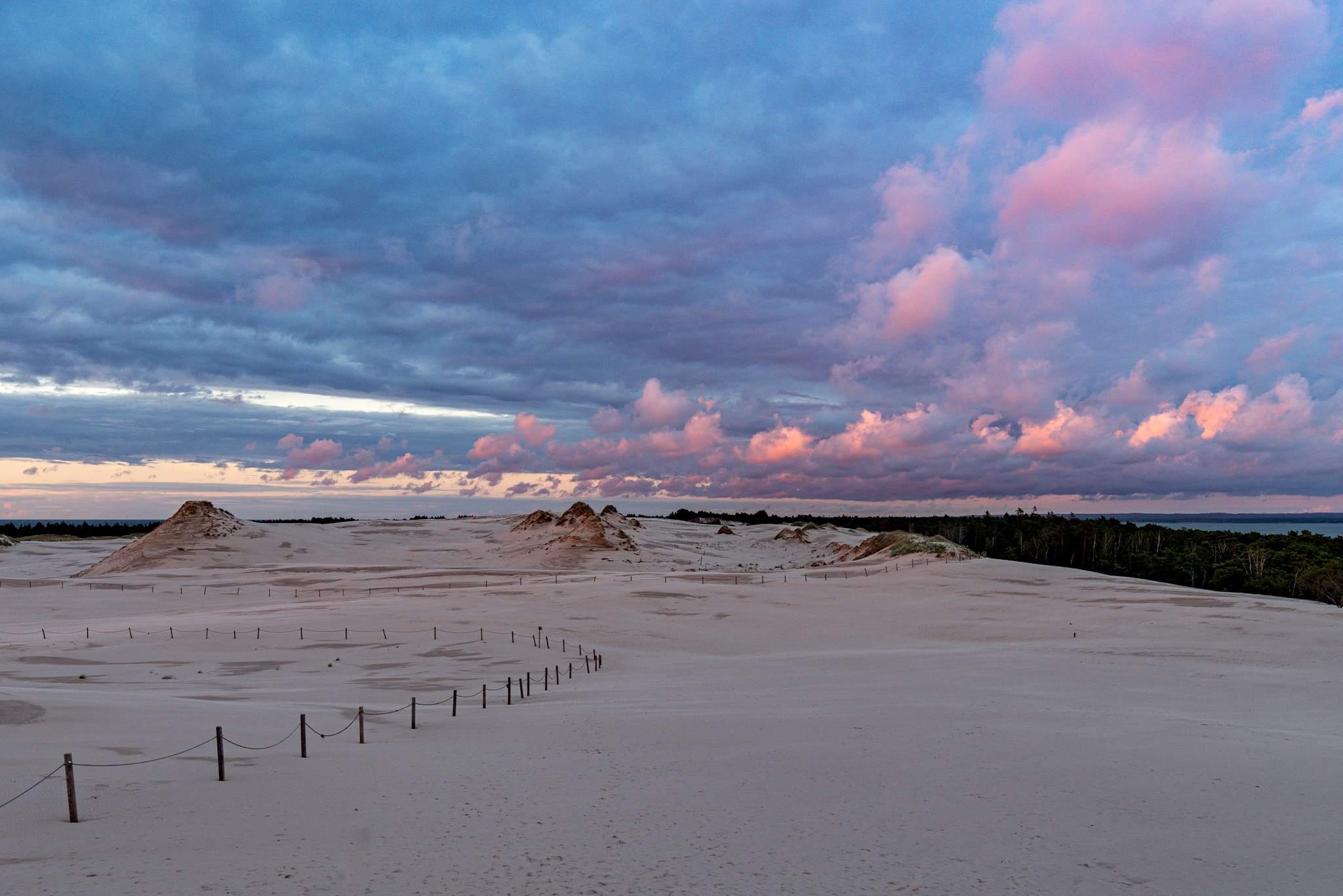 Sunset over dunes